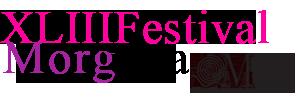 XLIII FESTIVAL DI MORGANA Logo